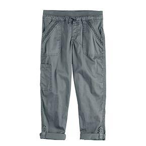 Girls 4-18 & Plus Size SO® Rib Waist Convertible Pants