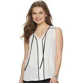 Women's ELLE Crochet Trim Tank