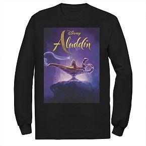 Disney's Aladdin Men's Lamp Poster Long Sleeve Graphic Tee