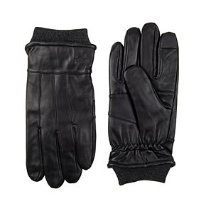 Men's Dockers® InteliTouch Knit Cuff Leather Gloves