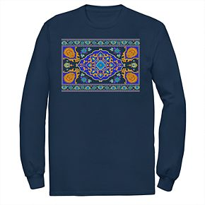 Disney's Aladdin Men's Magic Carpet Long Sleeve Graphic Tee