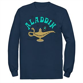 Disney's Aladdin Men's Magic Lamp Long Sleeve Graphic Tee