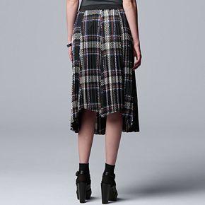 Women's Simply Vera Vera Wang Mixed Pleated Skirt