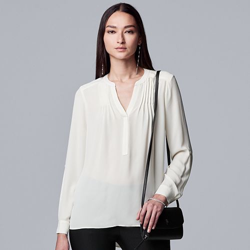 Women's Simply Vera Vera Wang Pintuck Soft Blouse