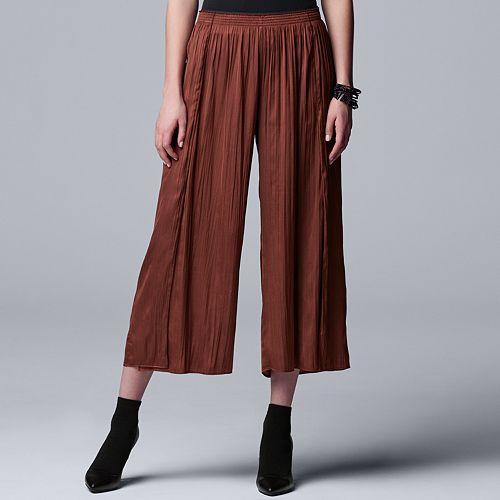 Women's Simply Vera Vera Wang Soft Crinkle Pants