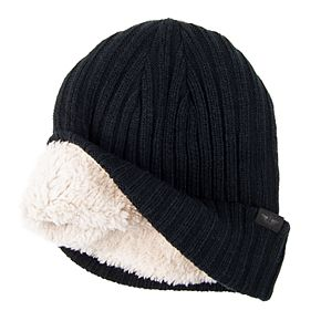 Men's Dockers® Knit Beanie Hat with Sherpa Lining