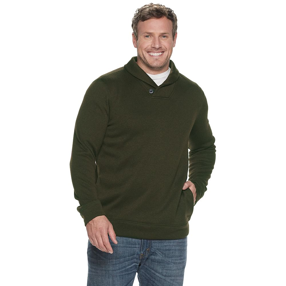 Big & Tall SONOMA Goods for Life® Supersoft Shawl Collar Sweater Fleece