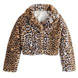 Girls 7-16 Knitworks Printed Faux Fur Jacket