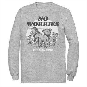 "Disney's The Lion King Men's ""No Worries"" Long Sleeve Graphic Tee"