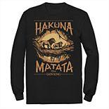 "Disney's The Lion King Men's ""Hakuna Matata"" Long Sleeve Graphic Tee"