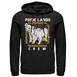 Disney's The Lion King Men's Simba & Nala Pride Lands Crew Graphic Hoodie