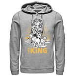 Disney's The Lion King Men's Scar, Simba & Nala Graphic Hoodie
