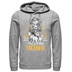 162126d19 Disney's The Lion King Men's Scar, Simba & Nala Graphic Hoodie. Athletic  Heather Black