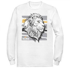 Disney's The Lion King Men's Mufasa Long Sleeve Graphic Tee