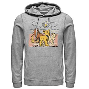 Disney's The Lion King Men's Simba, Nala, Timon & Pumba Graphic Hoodie