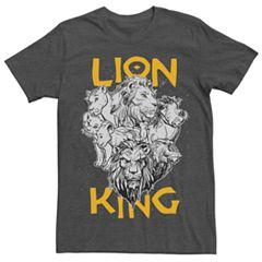 d6cf0848c Disney's The Lion King Men's Group Graphic Tee. Charcoal Heather Black