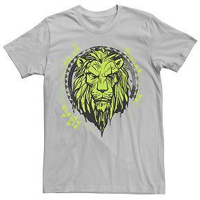 Men's Disney Lion King Geometric Lime Scar Short-Sleeve Tee