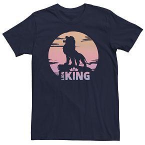 Men's Disney Lion King Sunset Crown Round Logo Tee