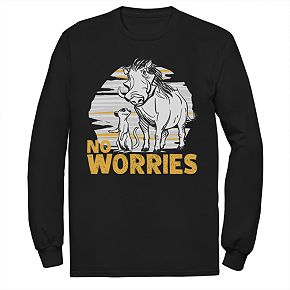 Men's Disney Lion King No Worries Long-Sleeve Tee