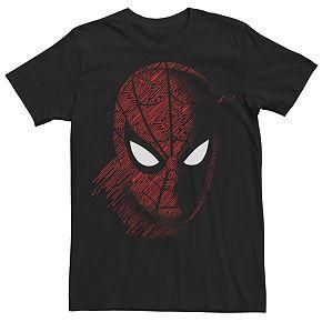 Men's Marvel Spider-Man Tech Face Mask Portrait Tee