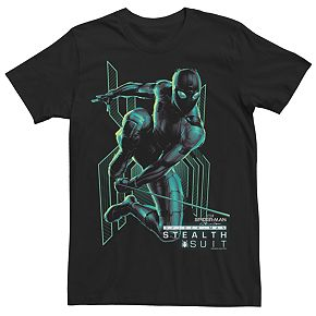 Men's Marvel Spider-Man Stealth Suit Jumping Darkness Tee