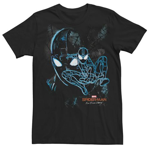 Men's Marvel Spider-Man Far From Home Stealth Suit Darkness Web Tee