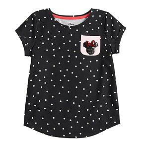 Disney's Minnie Mouse Girls 4-12 Polka-Dot Graphic Top by Jumping Beans®