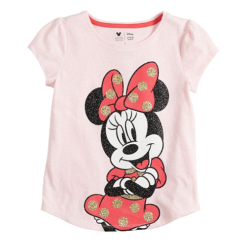 Disney's Minnie Mouse Girls 4-12 Glittery Graphic Tee by Jumping Beans®