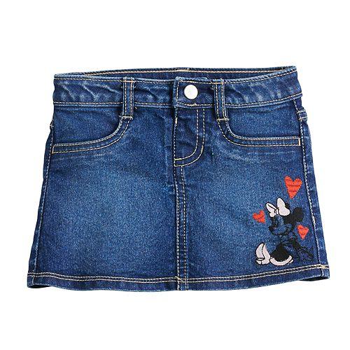 Disney's Minnie Mouse Toddler Girl Denim Skirt by Jumping Beans®