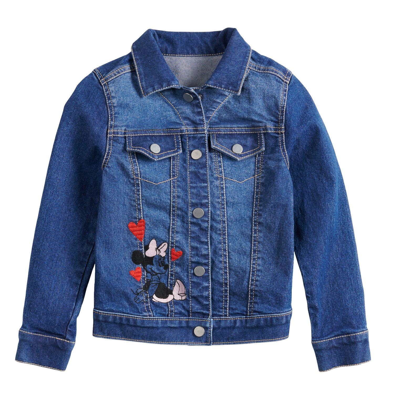 girls blue kids long sleeve tops, clothing kohl\u0027sdisney\u0027s minnie mouse girls 4 12 denim jacket by jumping beans®