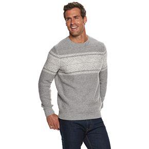 Men's Croft & Barrow Patterned Crewneck Sweater