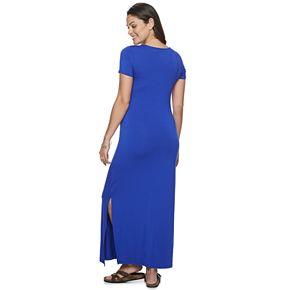 Maternity a:glow Asymmetrical Maxi Dress