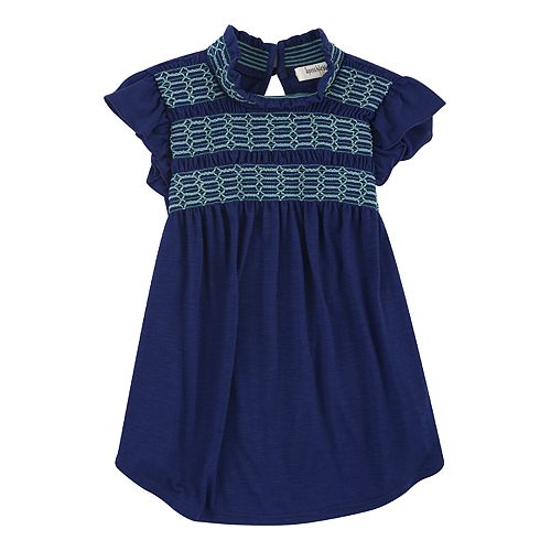 Girls 7-16 Speechless Smocked Top with Ruffle Sleeves
