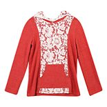 Girls 7-16 Speechless Top with Hood and Front Pocket