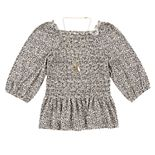 Girls 7-16 Speechless Smocked Floral Top with Necklace
