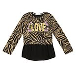 Girls' 7-16 Speechless 2-Piece Long Sleeve Printed Tops