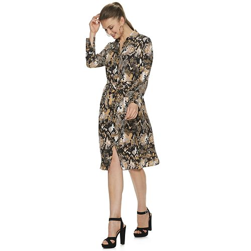 Women's Jennifer Lopez Collared Shirt Dress