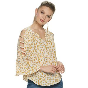 Women's Jennifer Lopez Bar Sleeve Peasant Top