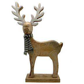 St. Nicholas Square Wood Deer Figurine Table Decor