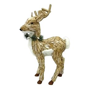 St. Nicholas Square® Standing Deer with Wreath Table Decor