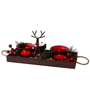 San Miguel Lodge Lighting Tealight Candle Holder Tray