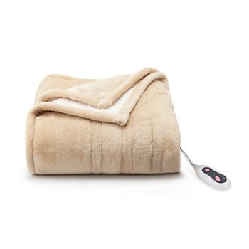 2-Pack Cuddl Duds Heated Plush to Sherpa Throw