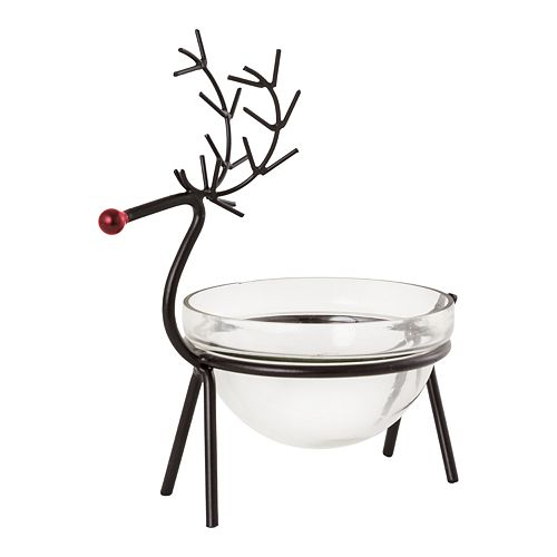 San Miguel Reindeer Bowl Christmas Table Decor by San Miguel
