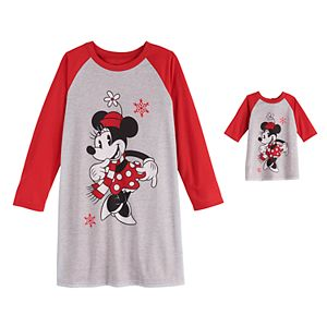 Disney's Minnie Mouse Girls 4-10 Nightgown & Matching Doll Gown by Jammies For Your Families