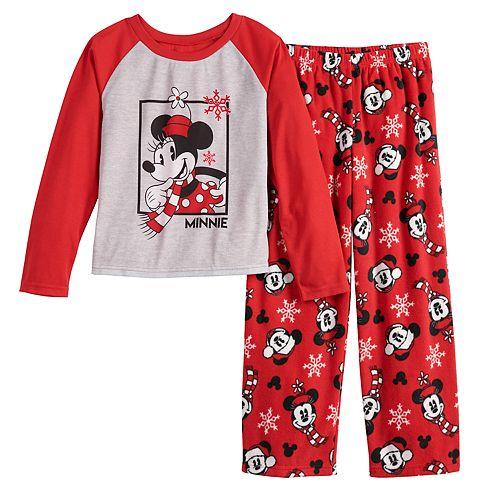 Kids Girls Baby Mickey Minnie Mouse Sleepwear Outfits Pyjamas Pjs Age 4-10 Yrs