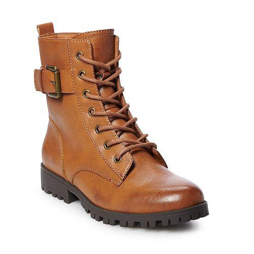 SO® Broccoli Women's Combat Boots
