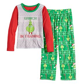 Girls 4-16 Jammies For Your Families The Grinch Top & Bottoms Pajama Set