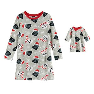 Girls 4-10 Jammies For Your Families Star Wars Nightgown & Matching Doll Gown