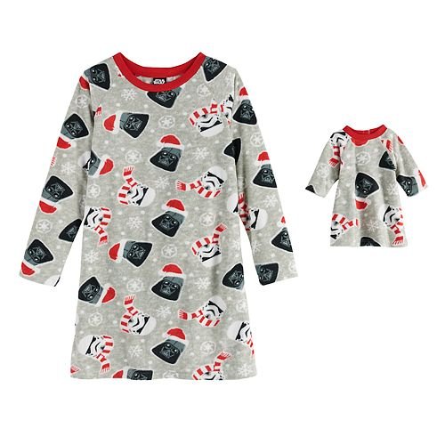 Girls 4-10 Jammies For Your Families® Star Wars Nightgown & Matching Doll Gown