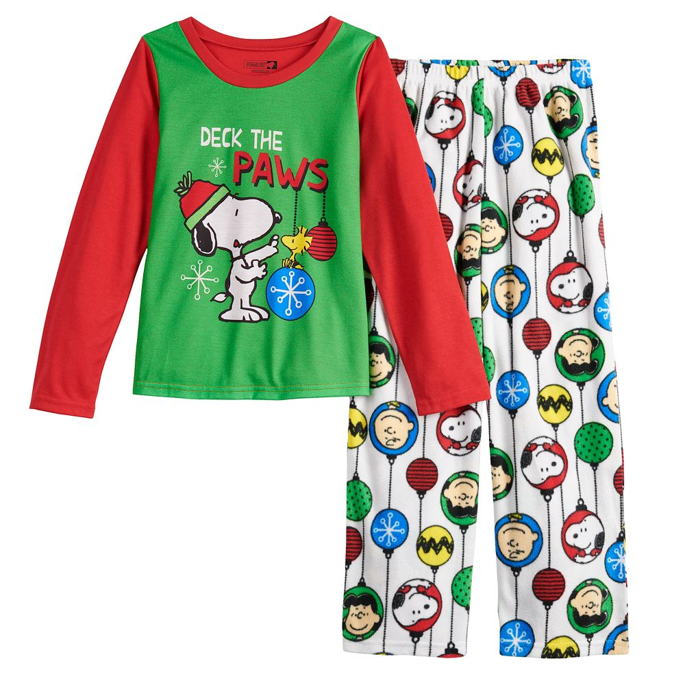 Girls 4-16 Jammies For Your Families Peanuts Snoopy Top & Bottoms Pajama Set